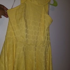 Yellow Racerback Cut Dress